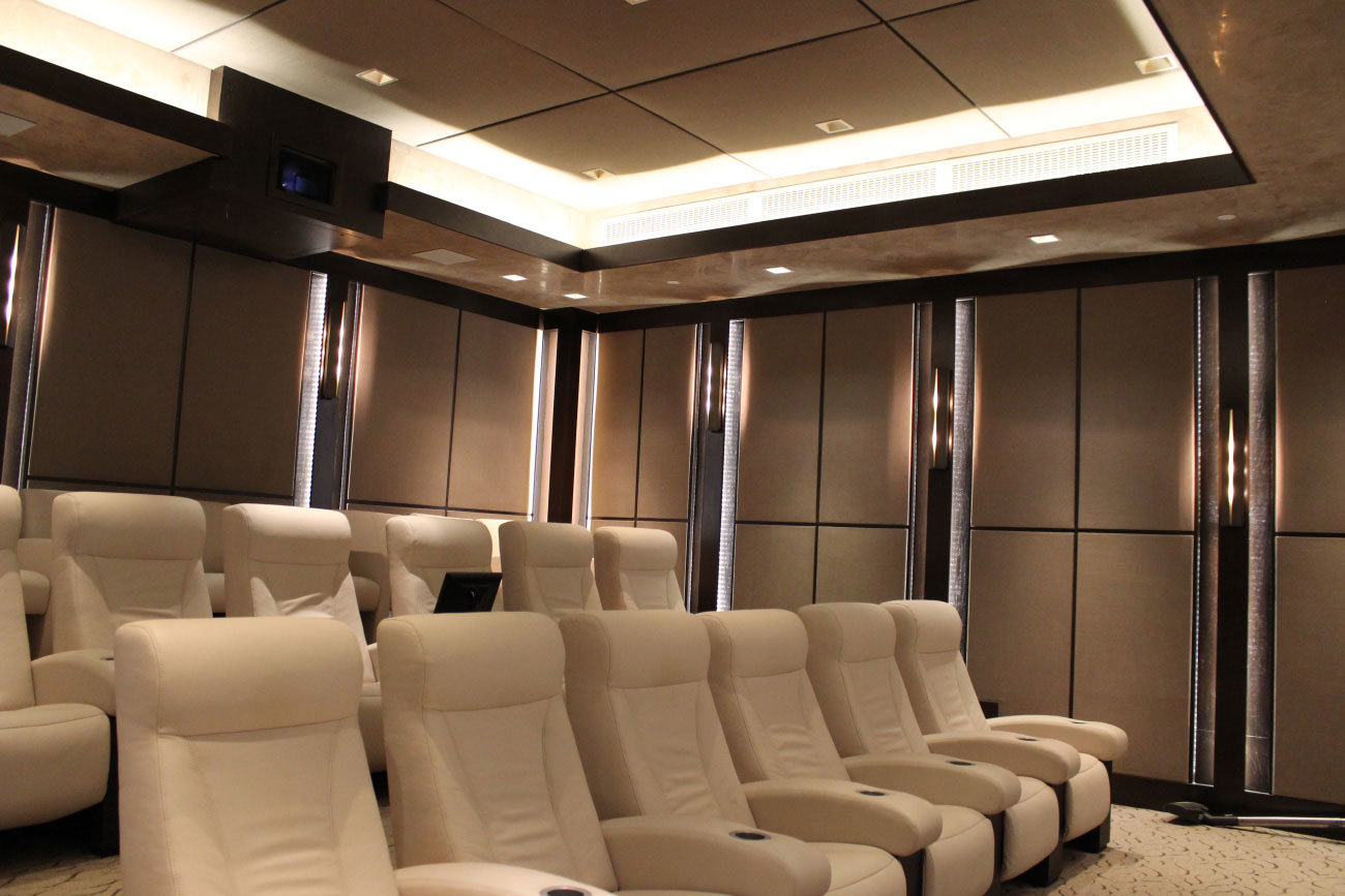 Private Home Theater Seating and A/V System