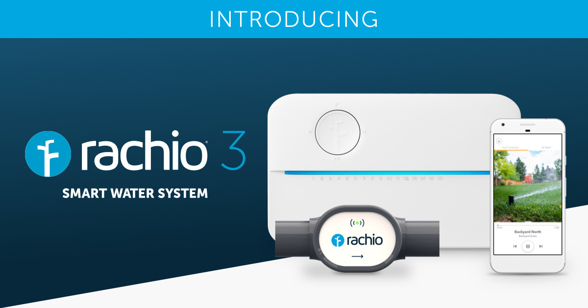 Rachio 3 sprinkler system with flow valve