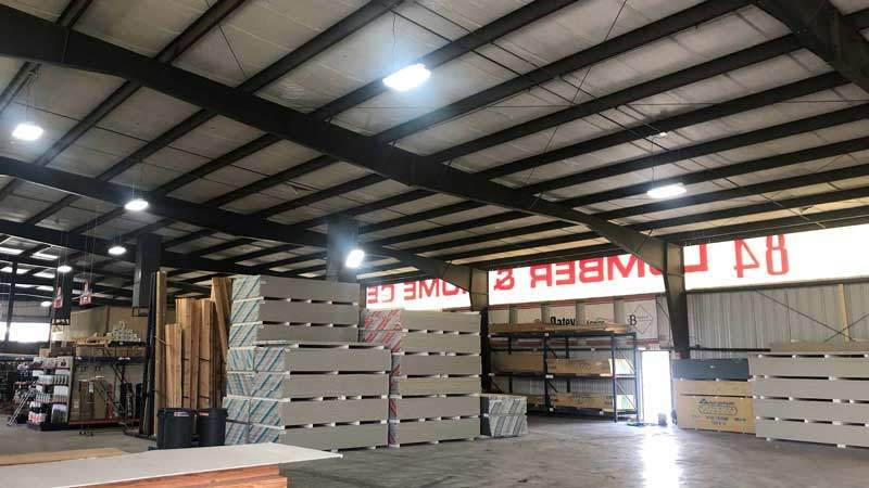 LED High Bay Lights in warehouse